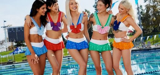 sailor moon scout bikinis hot topic