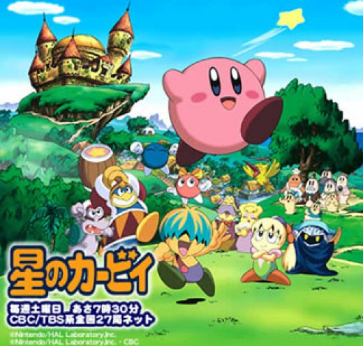 kirby anime poster