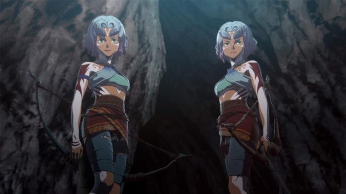 Godzilla anime twins