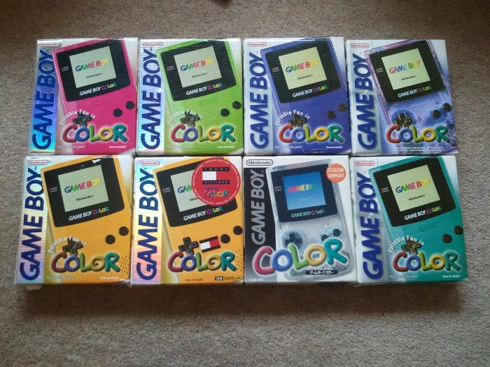 game boy color boxes