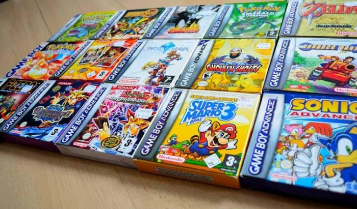 gba game boxes