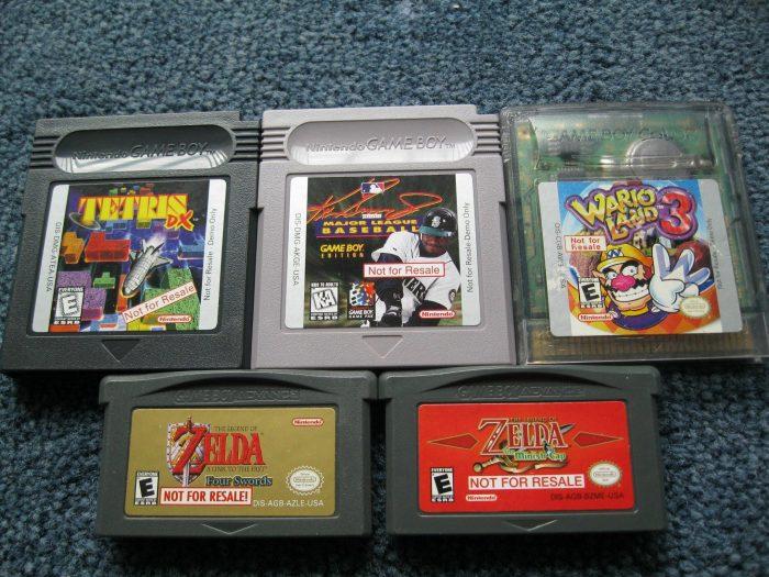 game boy cartridge comparison