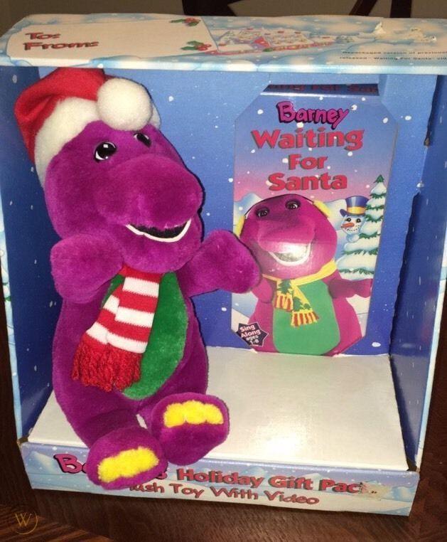 Barney Waiting for santa vhs plush