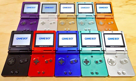 GBA SP Colors