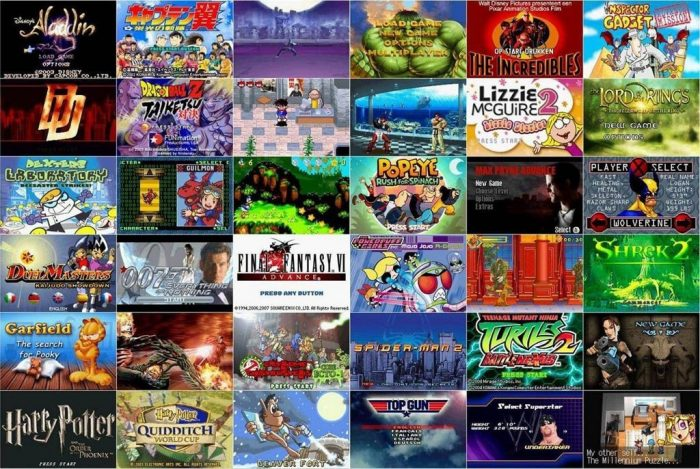 GBA Games collage